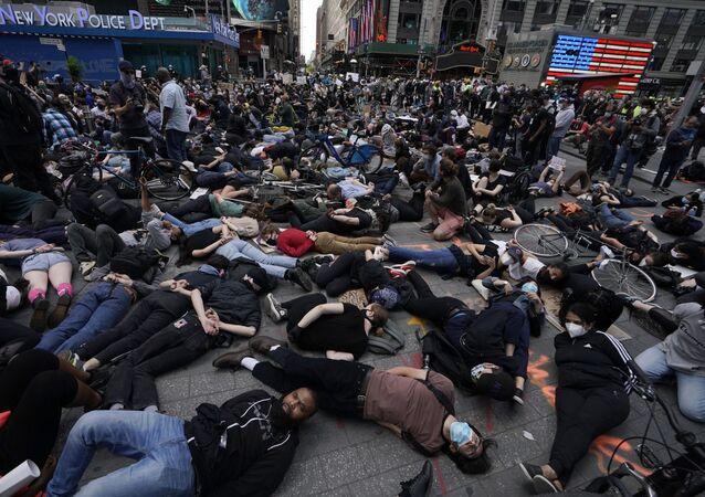 Protesta en Nueva York por la muerte de George Floyd