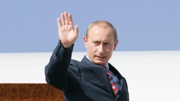 El presidente ruso, Vladímir Putin, tras la cumbre del G8 de 2007 (archivo) - Sputnik Mundo