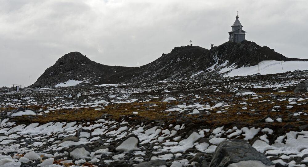 Un paisaje antártico