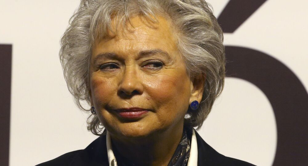 Olga Sánchez Cordero, secretaria de Gobernación de México