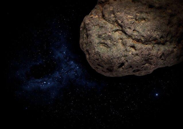 Imagen referencial de un meteorito