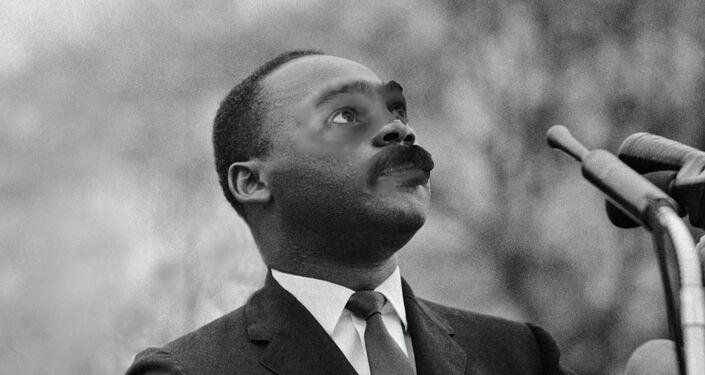 Paco Pajuelo, profesor de Historia del IES Siglo XXI de Sevilla vestido como Martin Luther King