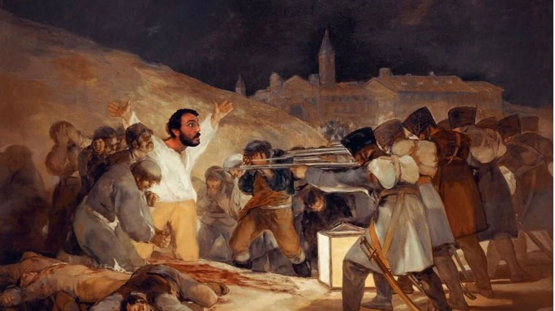 Paco Pajuelo, profesor de Historia del IES Siglo XXI de Sevilla, en el cuadro de Francisco Goya - Sputnik Mundo, 1920, 05.06.2020