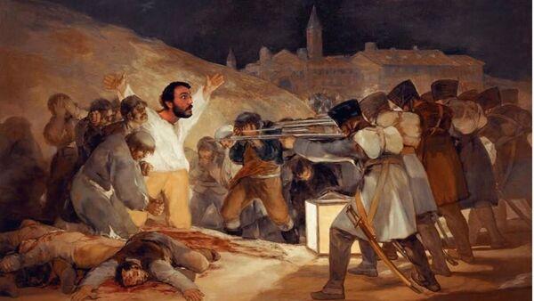 Paco Pajuelo, profesor de Historia del IES Siglo XXI de Sevilla, en el cuadro de Francisco Goya - Sputnik Mundo