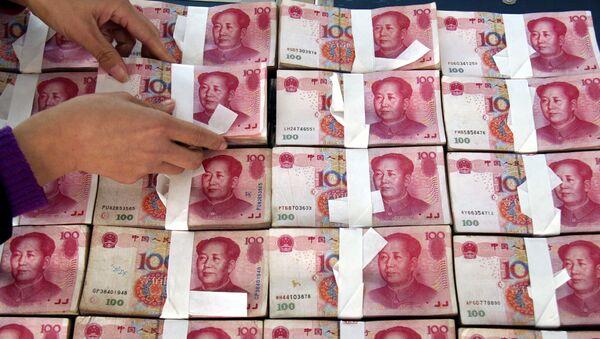 Los billetes de yuanes chinos - Sputnik Mundo