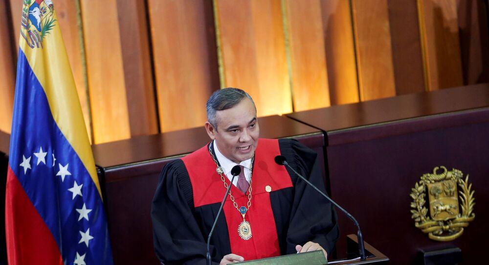 Maikel Moreno, presidente del Tribunal Supremo de Justicia (TSJ) de Venezuela