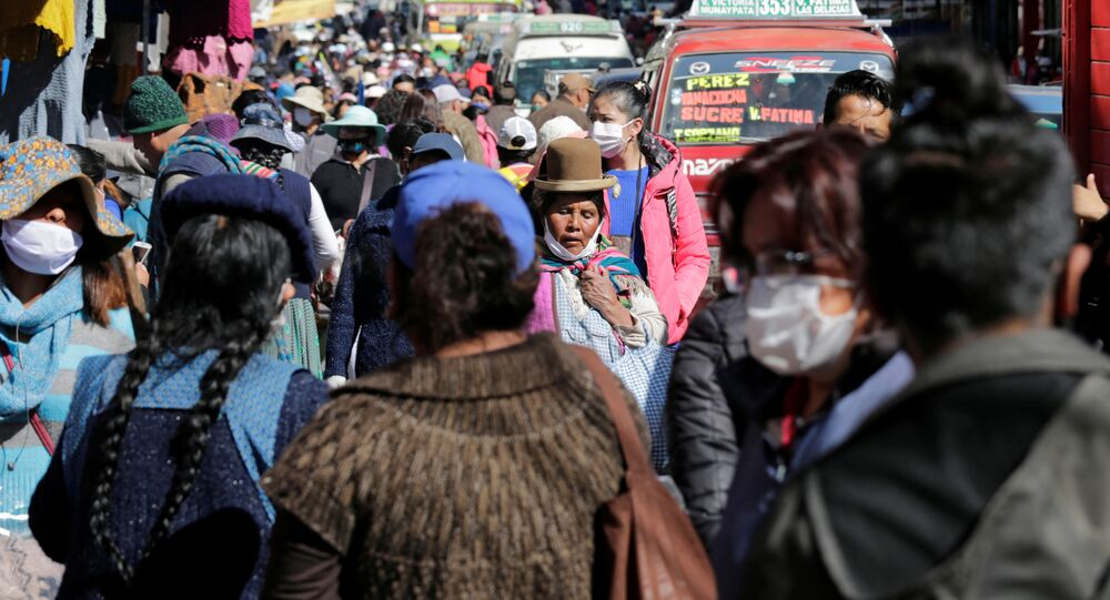 Propagación de coronavirus en Bolivia