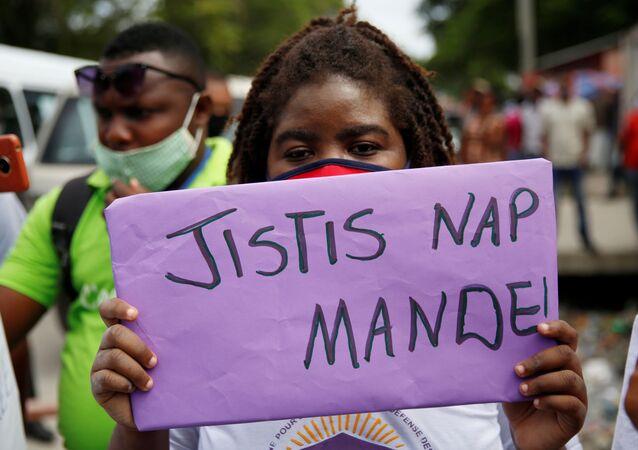 Una protesta en Haití (archivo)
