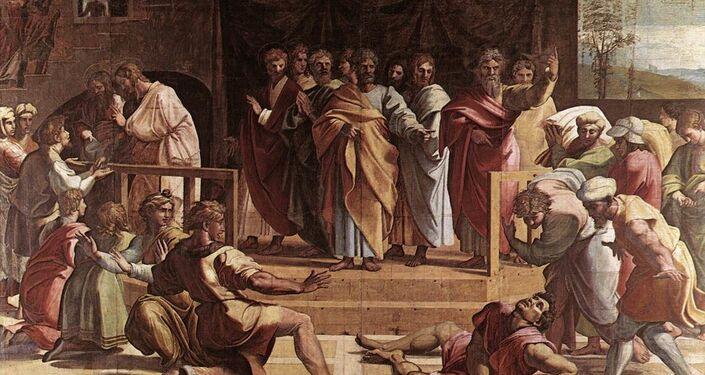 Cartón 'La muerte de Ananías'
