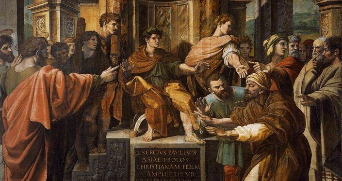 'La ceguera de Elimas' o 'La conversión del procónsul'