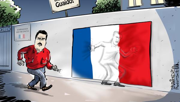 Francia juega al escondite con Juan Guaidó en Venezuela - Sputnik Mundo