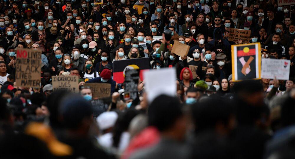 Protestas en apoyo al movimiento Black Lives Matter en Australia