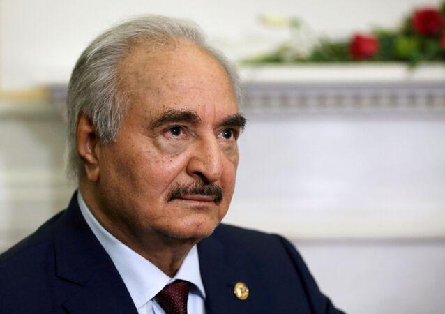 Jalifa Haftar, comandante del Ejército Nacional Libio
