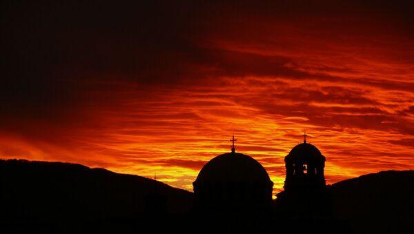 Una puesta de sol en Sofía - Sputnik Mundo