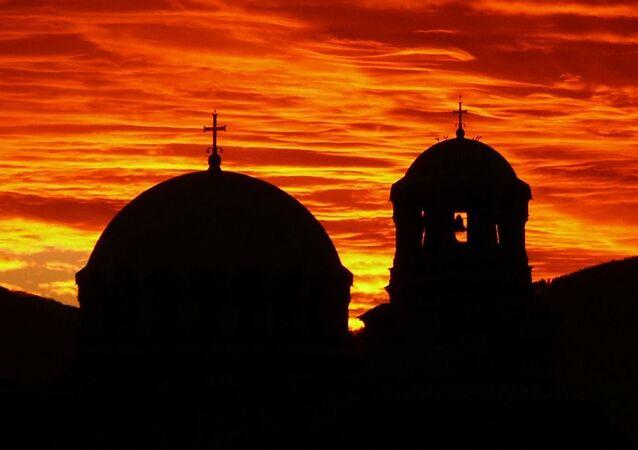 Una puesta de sol en Sofía