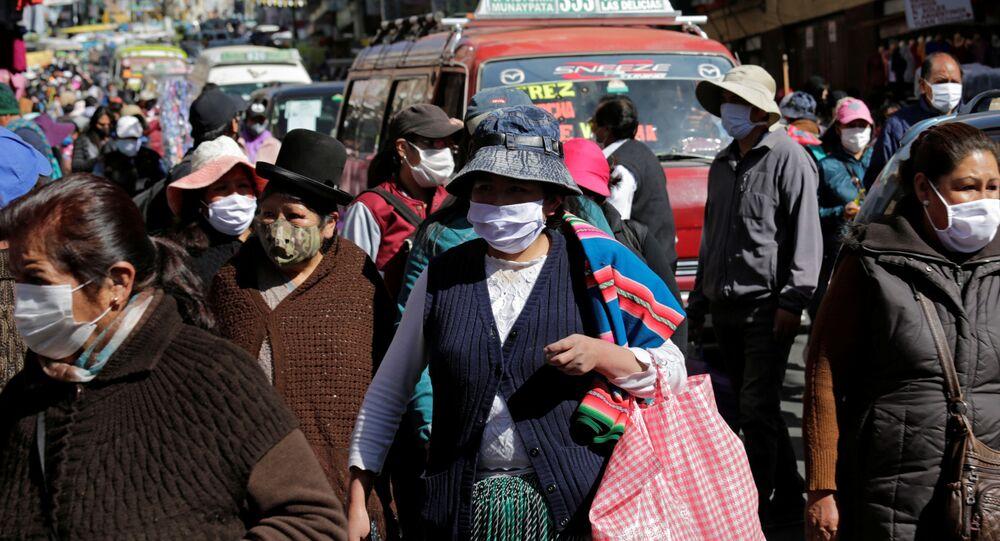 Propagación del coronavirus en Bolivia