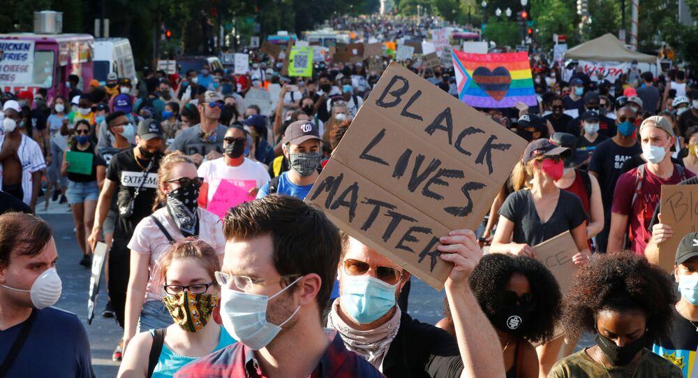 Protesta contra el racismo y la violencia policial en Washington, el 6 de junio de 2020