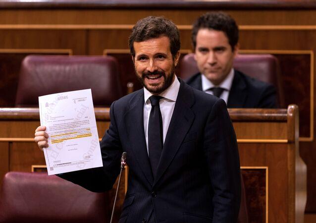 Pablo Casado, líder del Partido Popular en el Congreso de los Diputados el 3 de junio de 2020