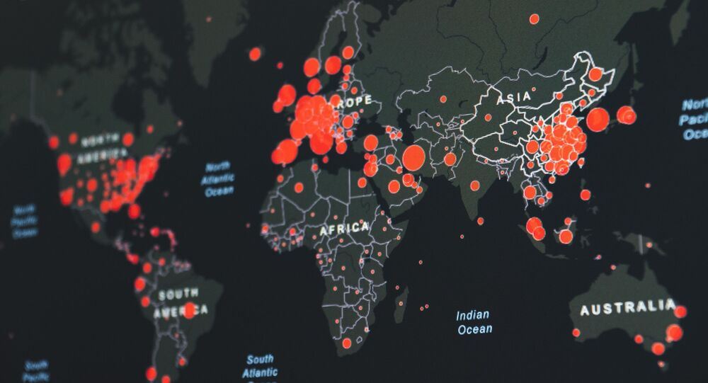 Un mapa de propagación de coronavirus