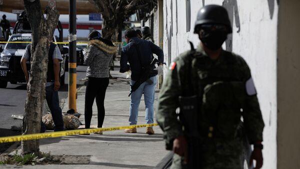 Un lugar de crímen en México (archivo) - Sputnik Mundo