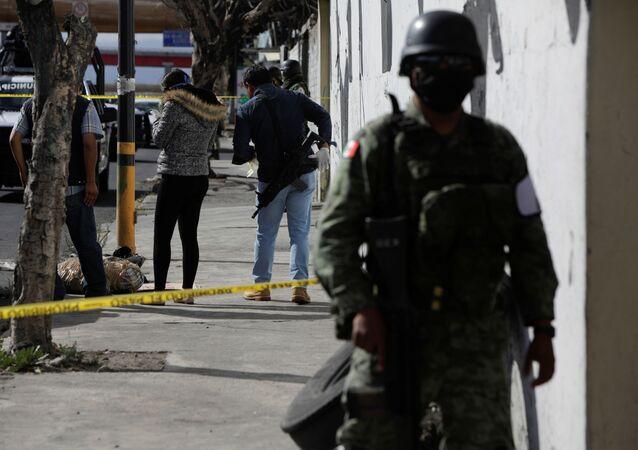 Un lugar de crímen en México (archivo)