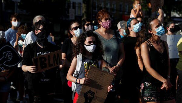 Los protestantes en Nueva York - Sputnik Mundo