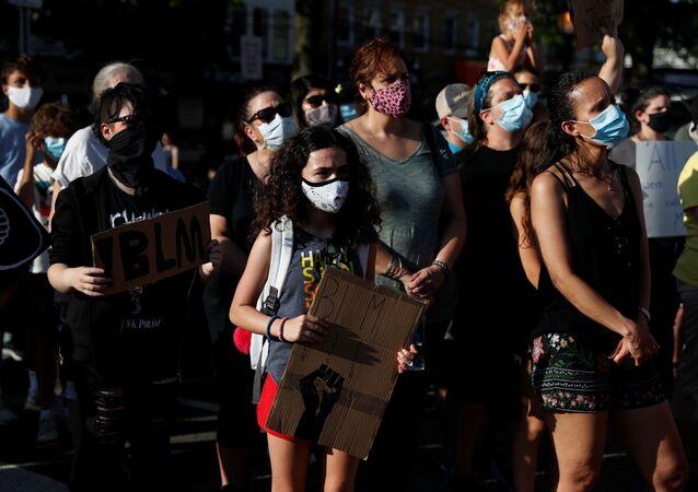 Los protestantes en Nueva York