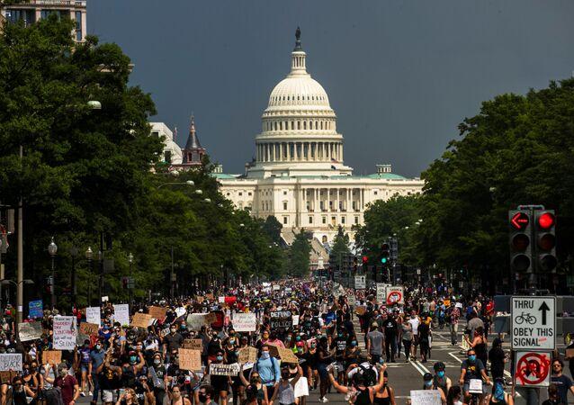 Las protestas contra la violencia policial en Washington, EEUU