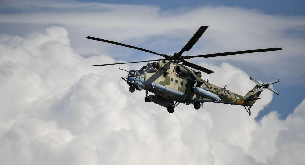 Un avión Mi-24 (archivo)