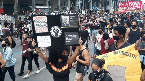 Protestas en Río de Janeiro - Sputnik Mundo