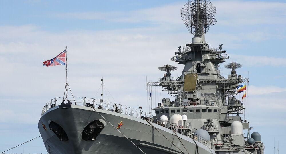 Piotr Veliki, crucero lanzamisiles de propulsión nuclear de la Flota del Norte de Rusia