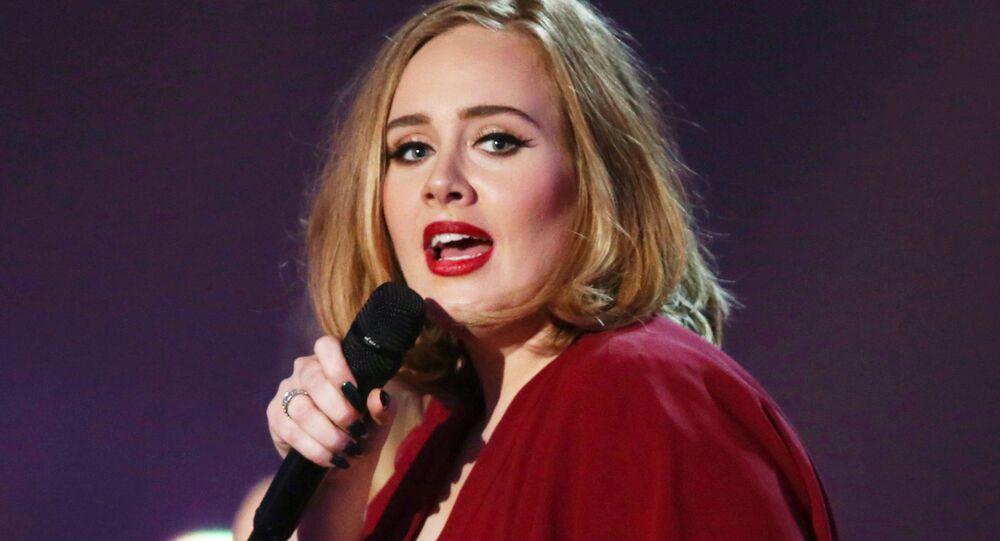 Adele, cantante británica (archivo)