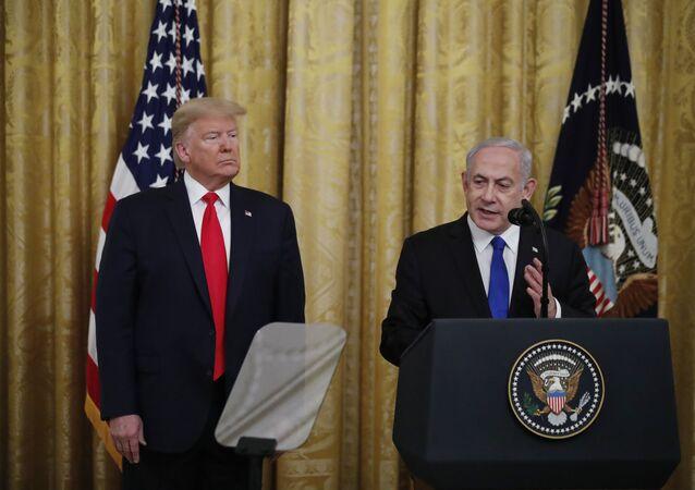 El presidente de Estados Unidos, Donald Trump, y el primer ministro israelí, Benjamín Netanyahu