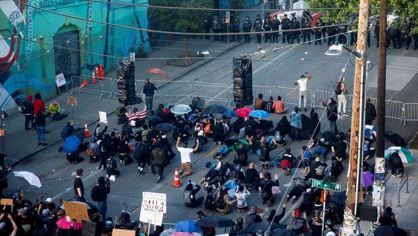 Protestas en Seattle - Sputnik Mundo