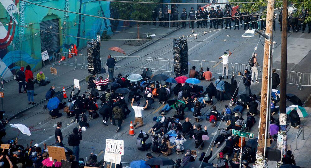 Protestas en Seattle