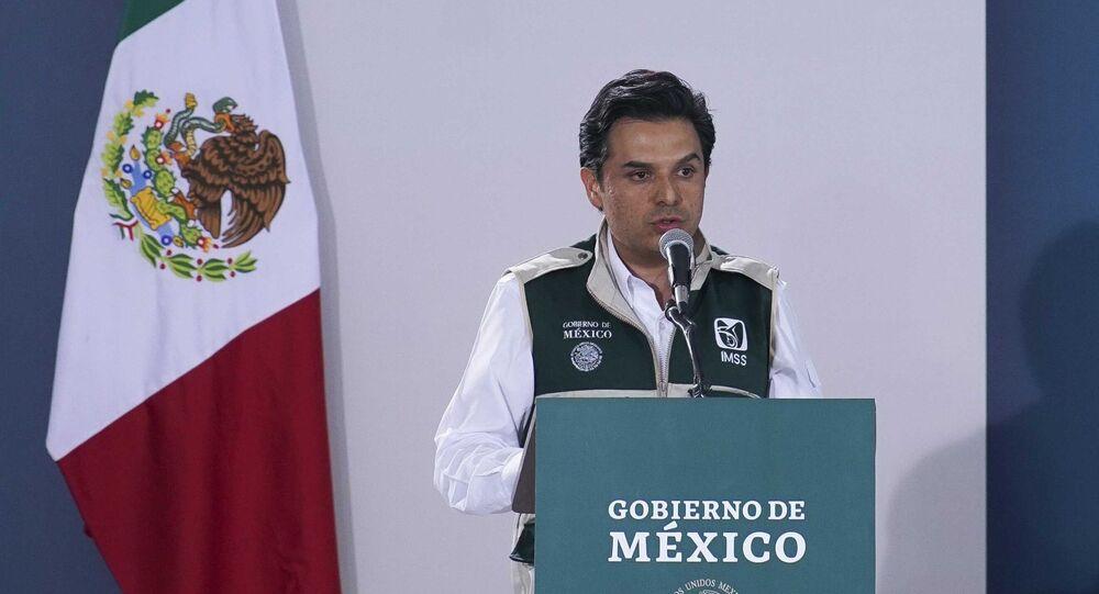 El director del Instituto Mexicano del Seguro Social (IMSS), Zoe Robledo
