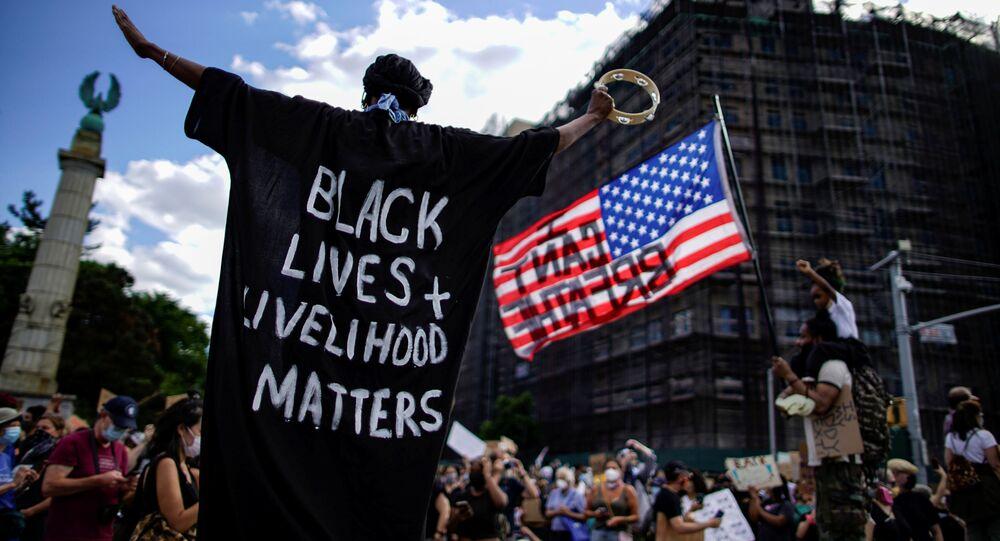 Las protestas por la muerte de George Floyd en Nueva York, EEUU