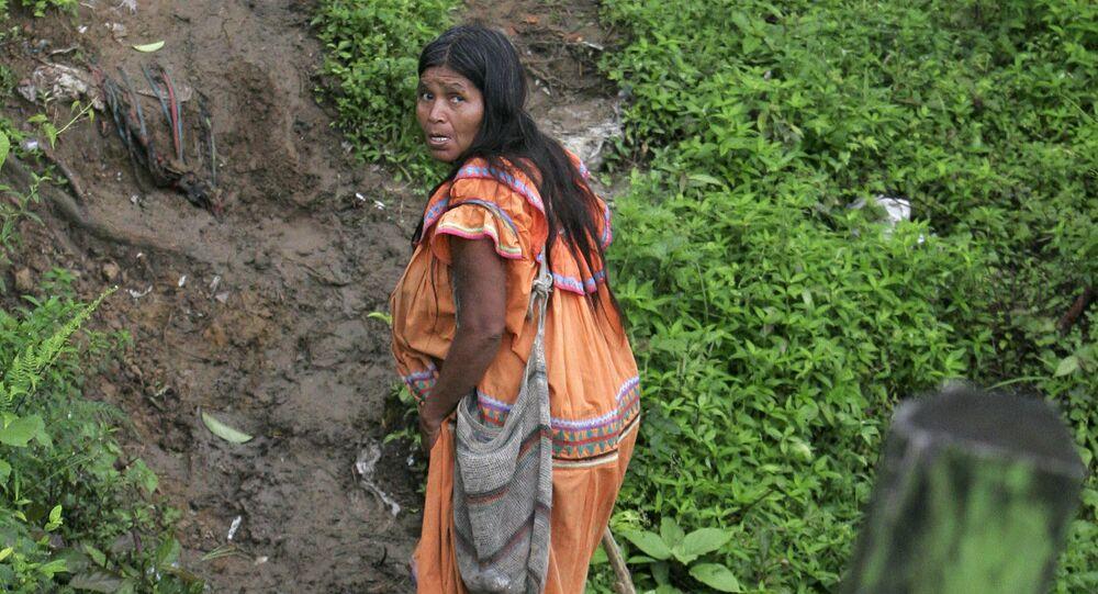 Una indígena Guaymi en Costa Rica (archivo)
