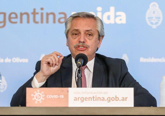 Alberto Fernańdez, presidente de Argentina