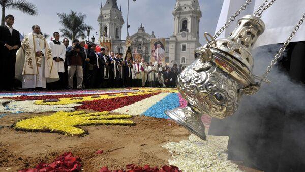 La festividad católica del Corpus Christi en Perú (archivo) - Sputnik Mundo