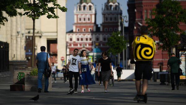 Los moscovitas salen a pasear - Sputnik Mundo