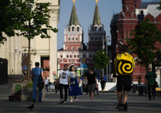 Los moscovitas salen a pasear