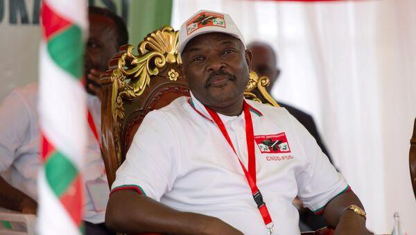 Presidente de Burundi, Pierre Nkurunziza - Sputnik Mundo