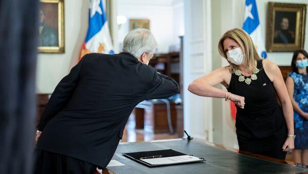Macarena Santelices, la ministra de la Mujer de Chile - Sputnik Mundo