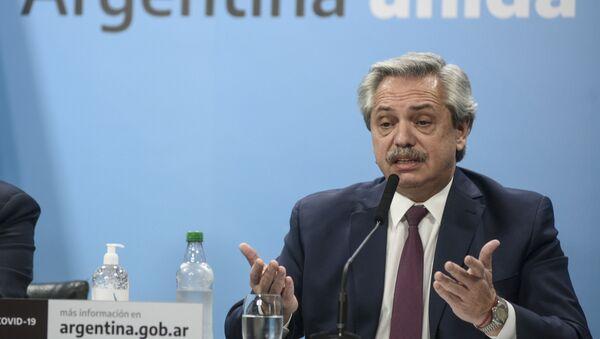 Alberto Fernández, presidente de Argentina, anunció la intervención de la empresa Vicentin - Sputnik Mundo