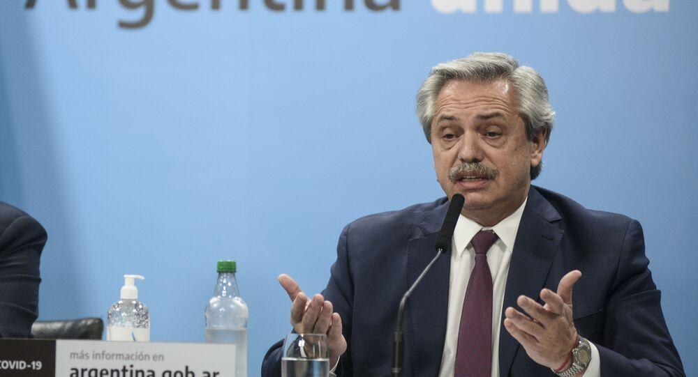 Alberto Fernández, presidente de Argentina, anunció la intervención de la empresa Vicentin