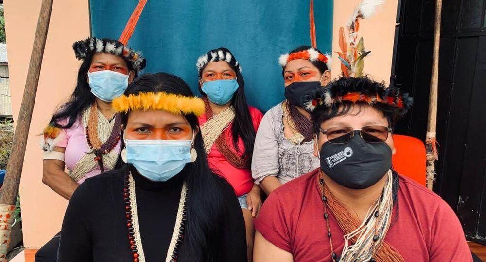 Indígenas amazónicos de la nacionalidad Waorani de Ecuador