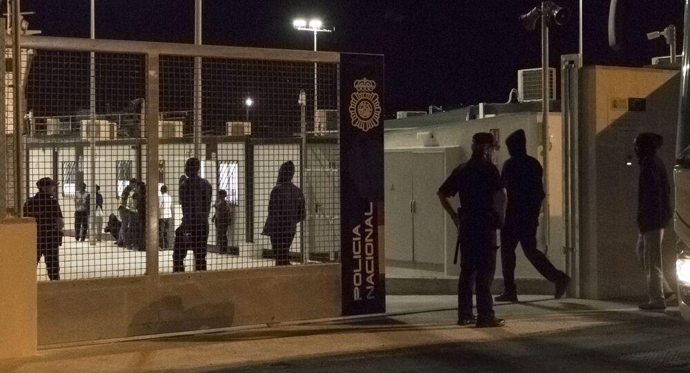 Imagen de un centro de acogida temporal para inmigrantes en Málaga (referencial)
