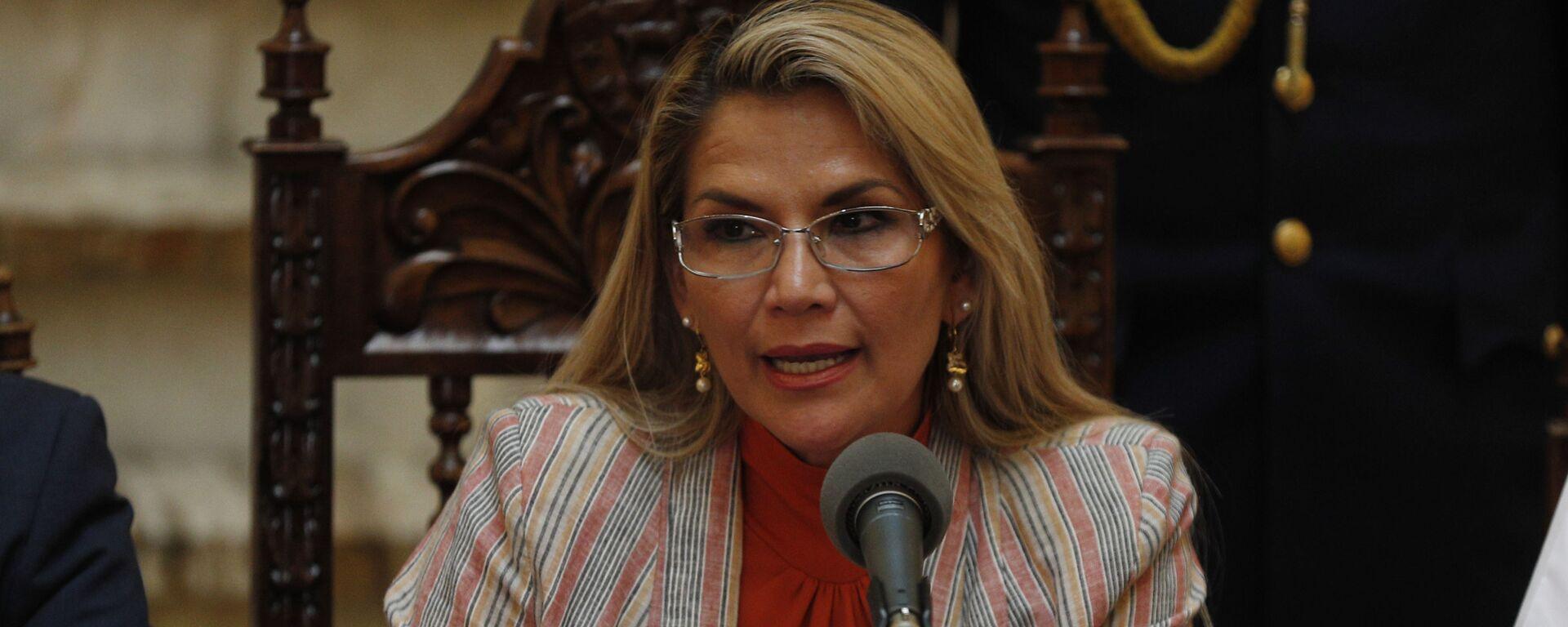 Jeanine Áñez, presidenta transitoria de Bolivia - Sputnik Mundo, 1920, 04.08.2021