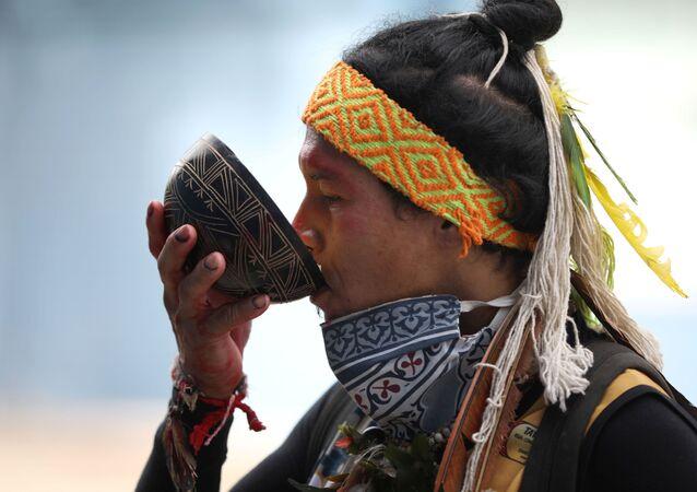 Un indígena en Brasil (imagen referencial)